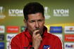 Atleticos Trainer Diego Simeone vor dem Final der Europa League gegen Olympique Marseille