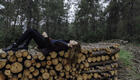 Beautiful Woman Lying Down Timber