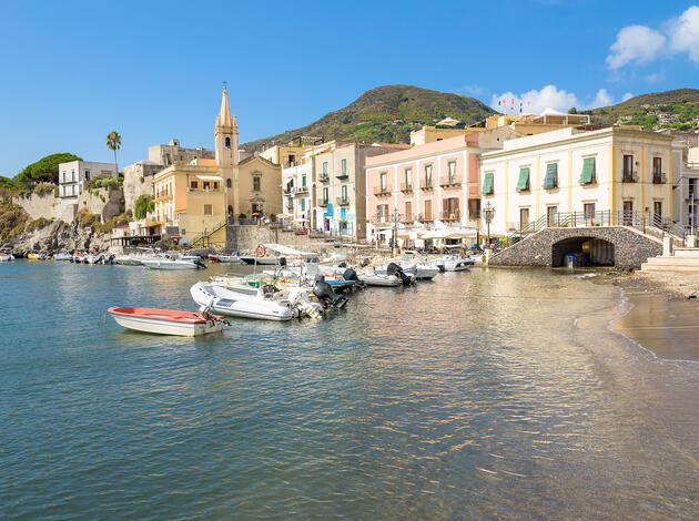 Lipari town on Aeolian Islands