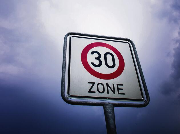 zone sign, speed limit 30